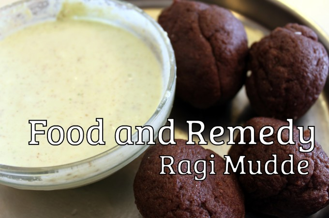 Ragi Mudde with Side Dish