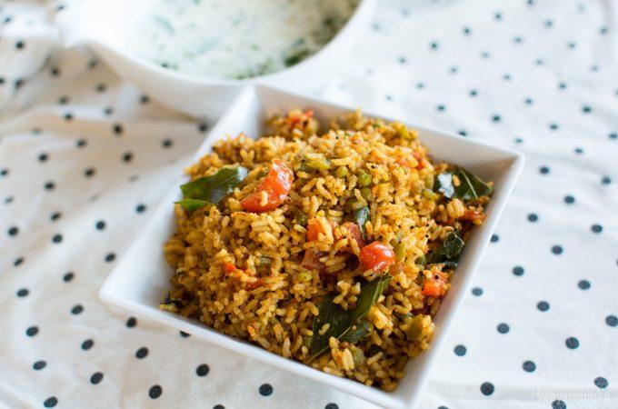 Capsicum  Rice |  Bell Pepper Rice | Easy Rice recipes