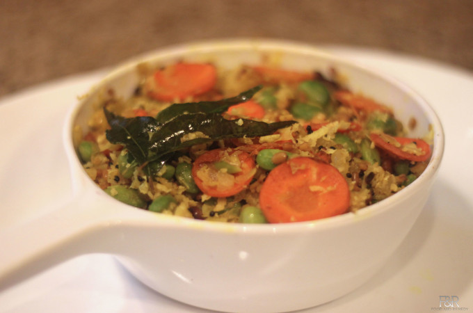 Edamame – Cabbage  dry Curry