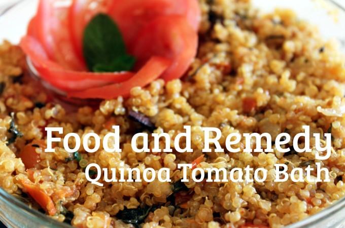 Quick Quinoa Tomato side dish / Tomato bath
