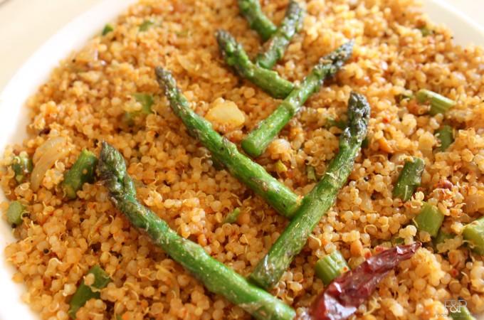 Quinoa – Asparagus Bath