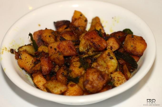 Taro Root Fry |  Taro root Palya | Kesuvina Gedde curry