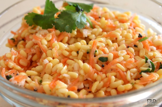 Split Moong Dal and Carrot Salad  | Kosambari recipe