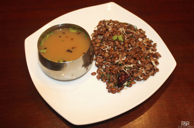 Sprouted Horse Gram Rasam (Hurali Saaru) And Usli (Hurali Palya)