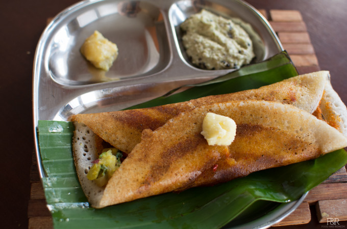 Masala Dosa – Potato Onion Palya and Dosa