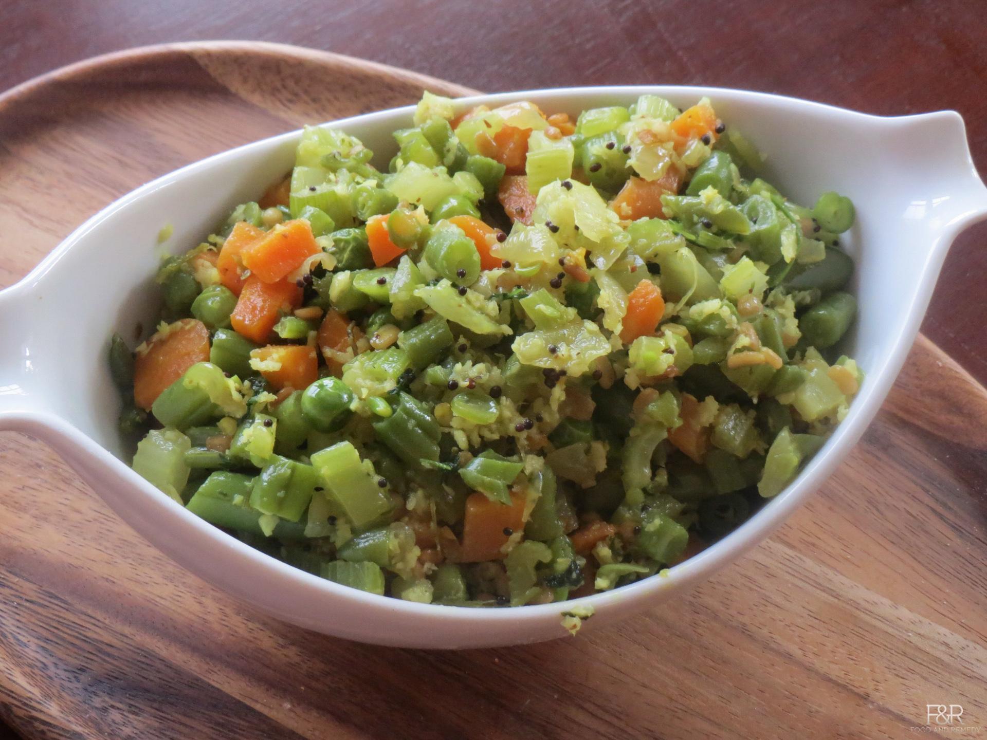 Celery Carrot Beans Stir Fry Recipe, How To Make Mixed