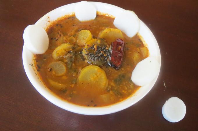 Radish Sambar or Mullangi Sambar Recipe, How to make Sambar Recipes