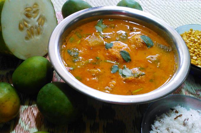 Cucumber Mango Sambar Recipe, How to Make Sambar Recipes