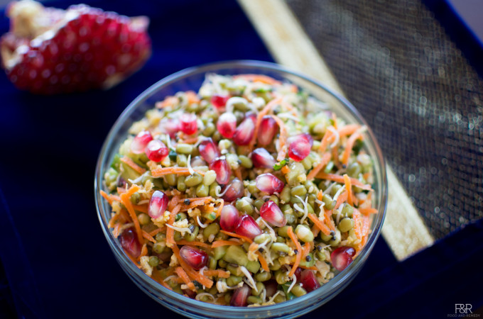 Sprouted Mung Beans/Moong Salad Recipe