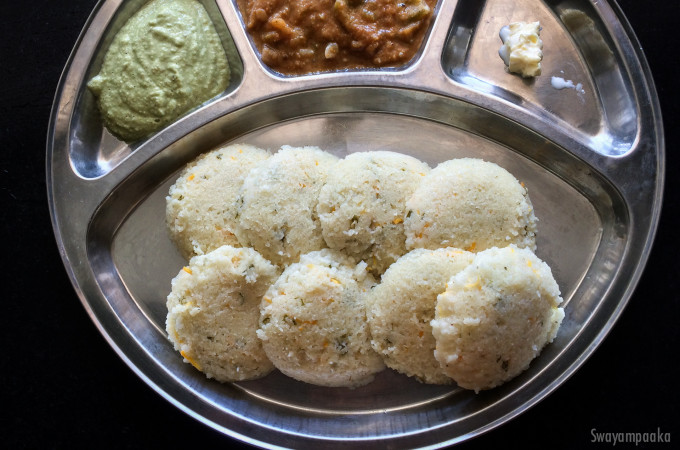 Instant Idli  Recipe using Poha and Sooji