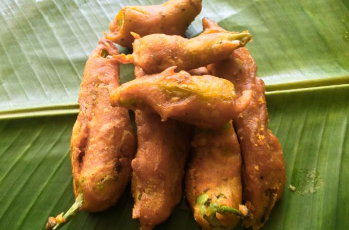 Mirchi Bajji | Chilli Pakora | Menasinakayi Bonda