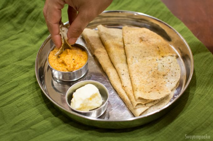 Multigrain Adai Dosa | Methi Millet and whole grain adai