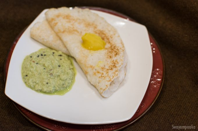 Coconut Dosa | Kayi Dosa| Vegan and Gluten free breakfast
