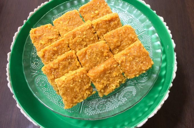 Coconut Carrot Burfi | Burfi using jaggery