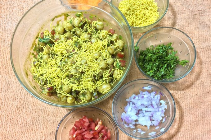 Chana Chaat | Garbanzo beans Chaat