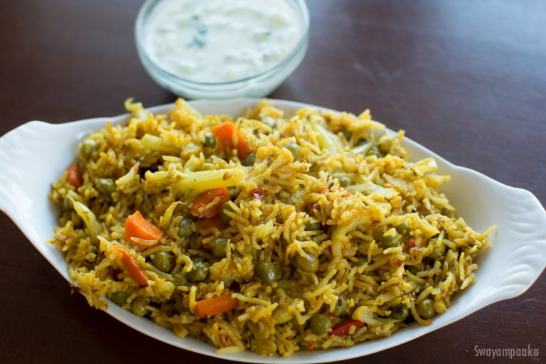 Cauliflower masala rice bhath