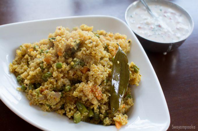 Quinoa pulav |Quinoa masala bhath