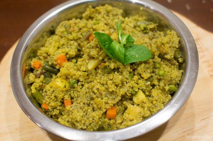 quinoa mint pulao