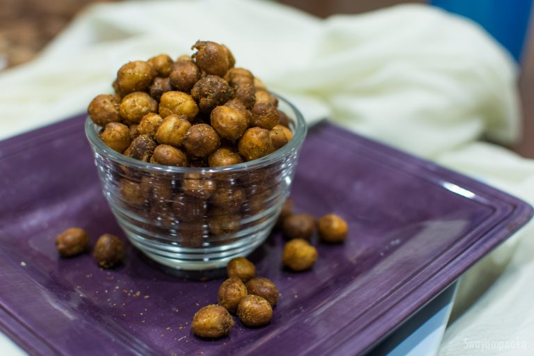 Fried chickpea snack