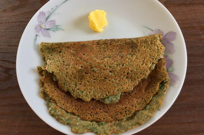 Spinach Dosa Recipe | Palak Dosa