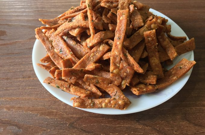 Rice Ribbons recipe | Crispy vegan and gluten free snack